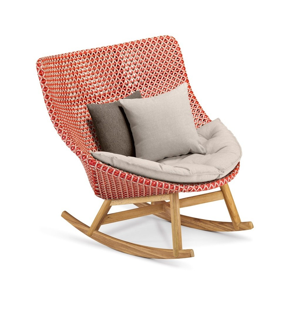 Rocking Chair Mbrace De Dedon Rouge
