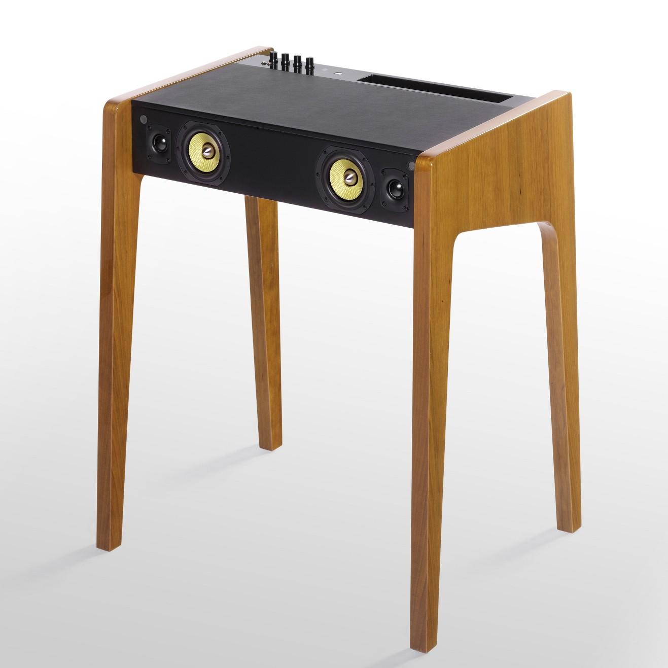 Ld130 De La Bo Te Concept Pour Ordinateur Portable Bois Naturel Laqu  # Table Ordi En Bois