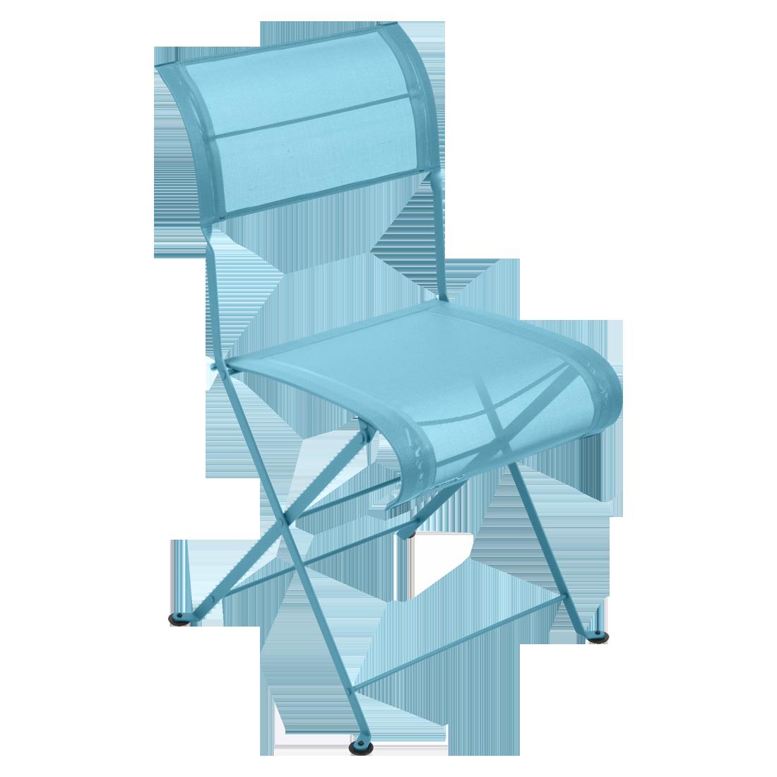 Chaise Pliante DUNE PREMIUM De Fermob Bleu Turquoise