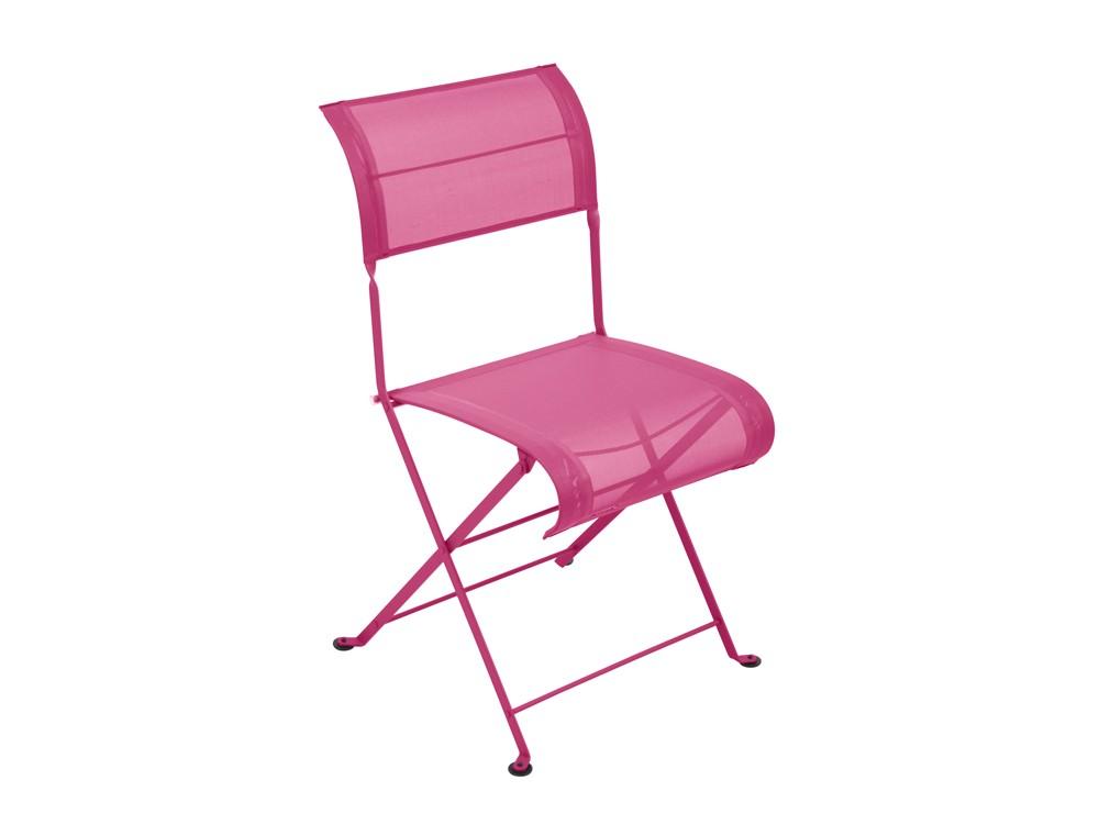 Chaise pliante dune de fermob fuchsia - Chaise pliante rose ...