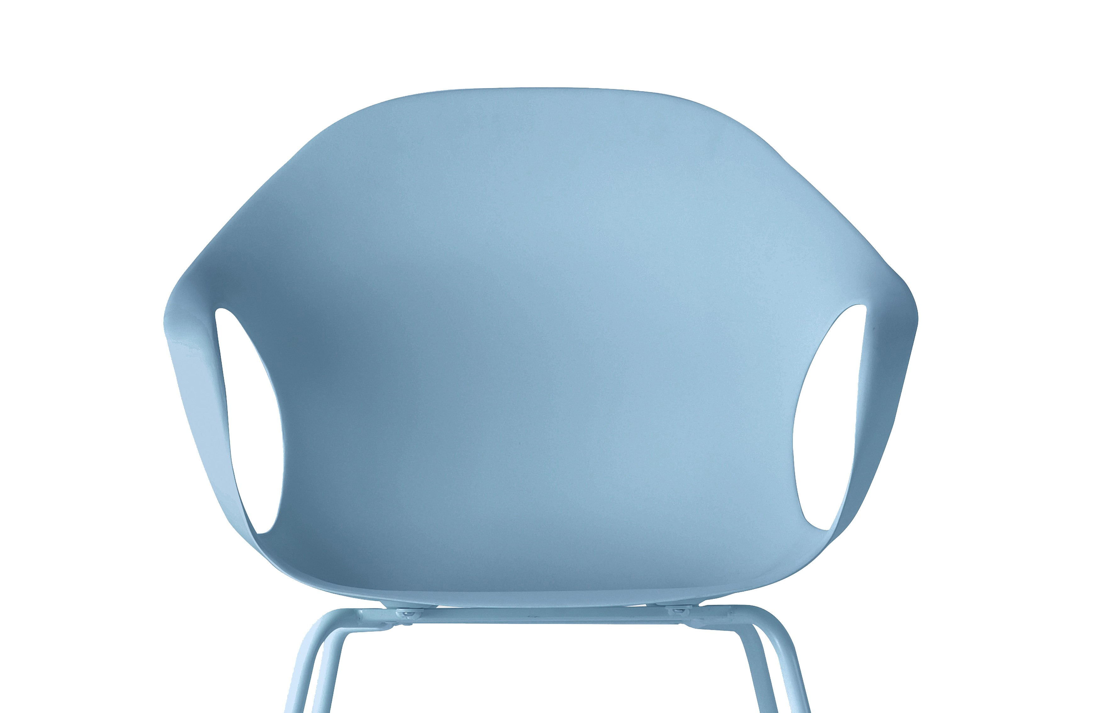 fauteuil elephant de kristalia pieds droits en acier laqu bleu ciel. Black Bedroom Furniture Sets. Home Design Ideas