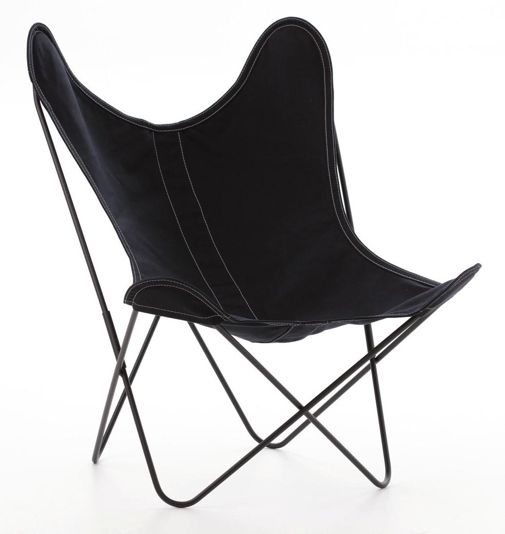 fauteuil aa de airborne structure poxy toile noire. Black Bedroom Furniture Sets. Home Design Ideas