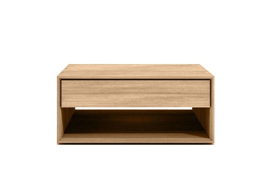 Table basse oak nordic d 39 ethnicraft 1 tiroir 1 tiroir for Table basse ethnicraft