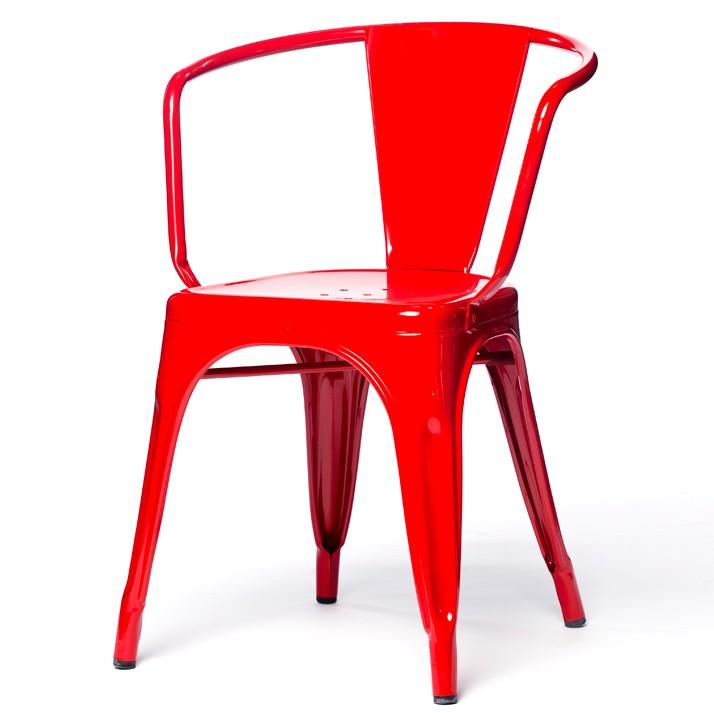 fauteuil a56 de tolix acier laqué, 10 coloris
