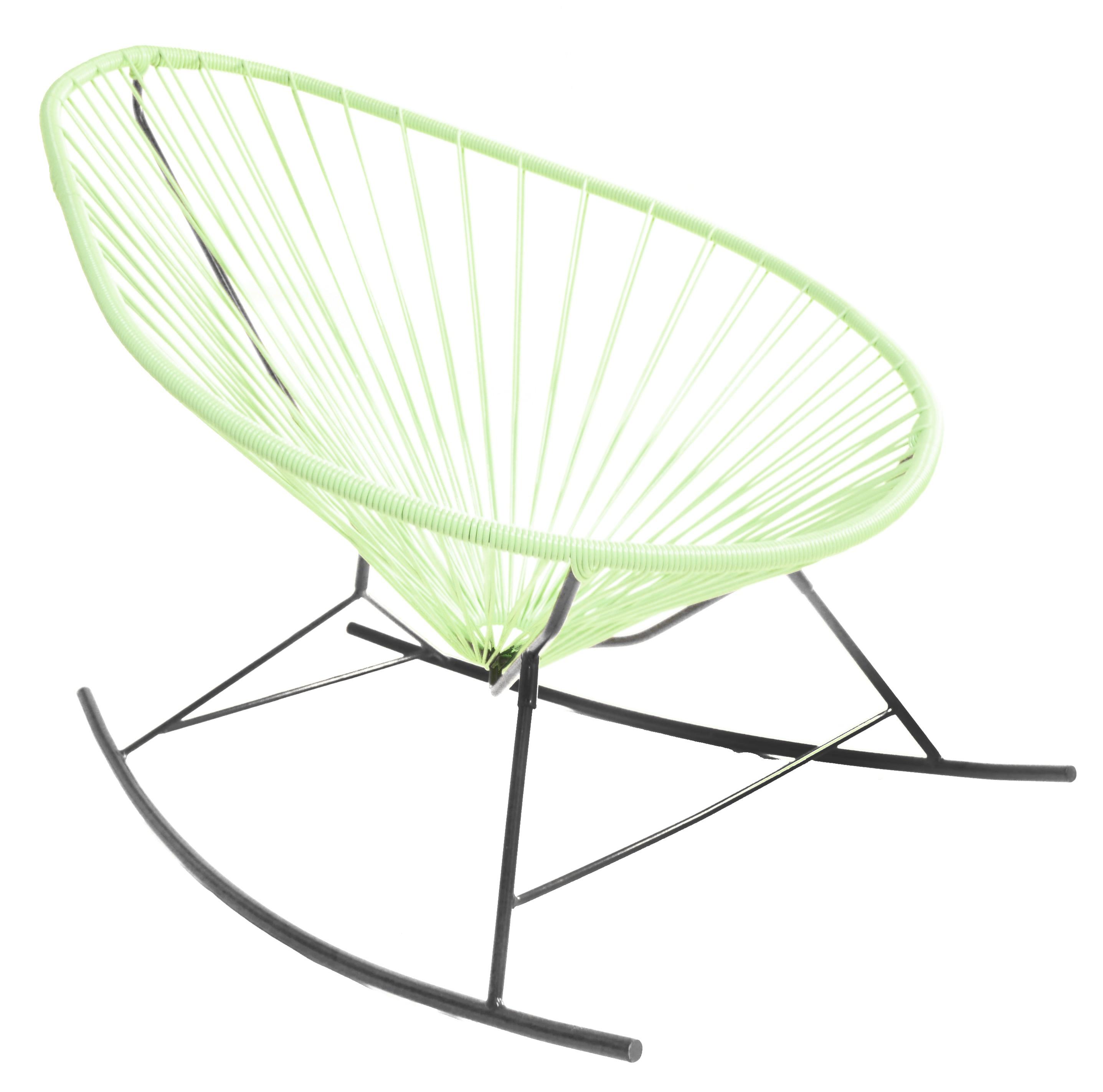 fauteuil bascule acapulco de boqa avec structure noire vert d 39 eau. Black Bedroom Furniture Sets. Home Design Ideas