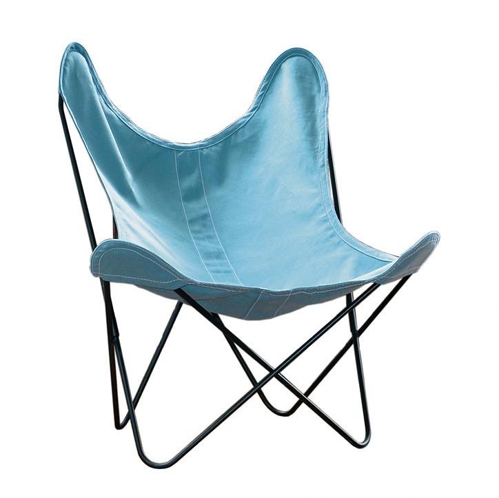 fauteuil aa de airborne structure acier thermolaqu noir et lin 6 coloris. Black Bedroom Furniture Sets. Home Design Ideas