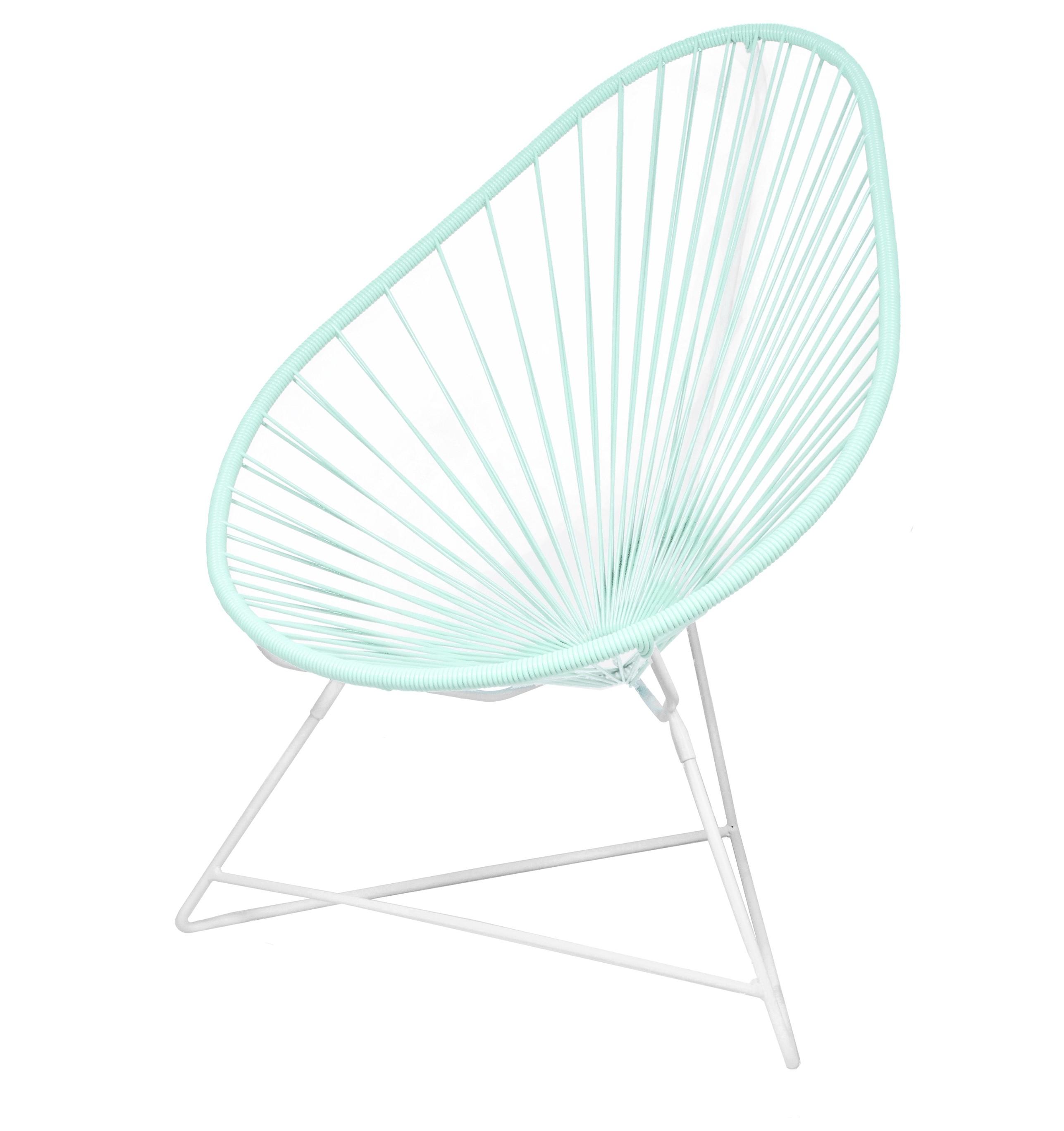 fauteuil acapulco de boqa avec structure blanche vert d 39 eau. Black Bedroom Furniture Sets. Home Design Ideas