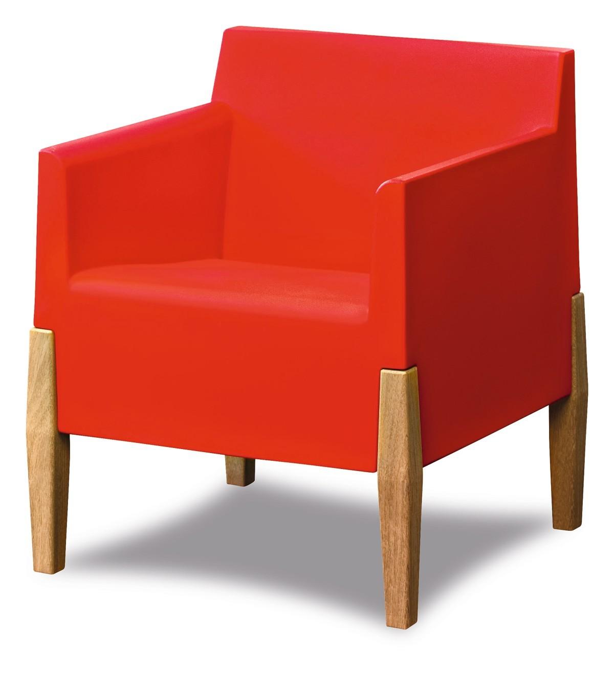 fauteuil bas kubric de serralunga rouge. Black Bedroom Furniture Sets. Home Design Ideas