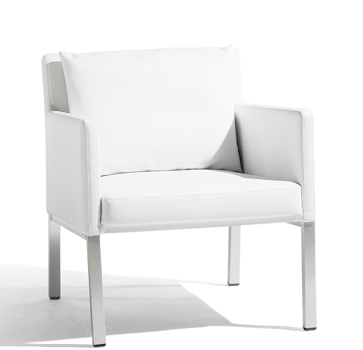 fauteuil bas liner de manutti blanc. Black Bedroom Furniture Sets. Home Design Ideas