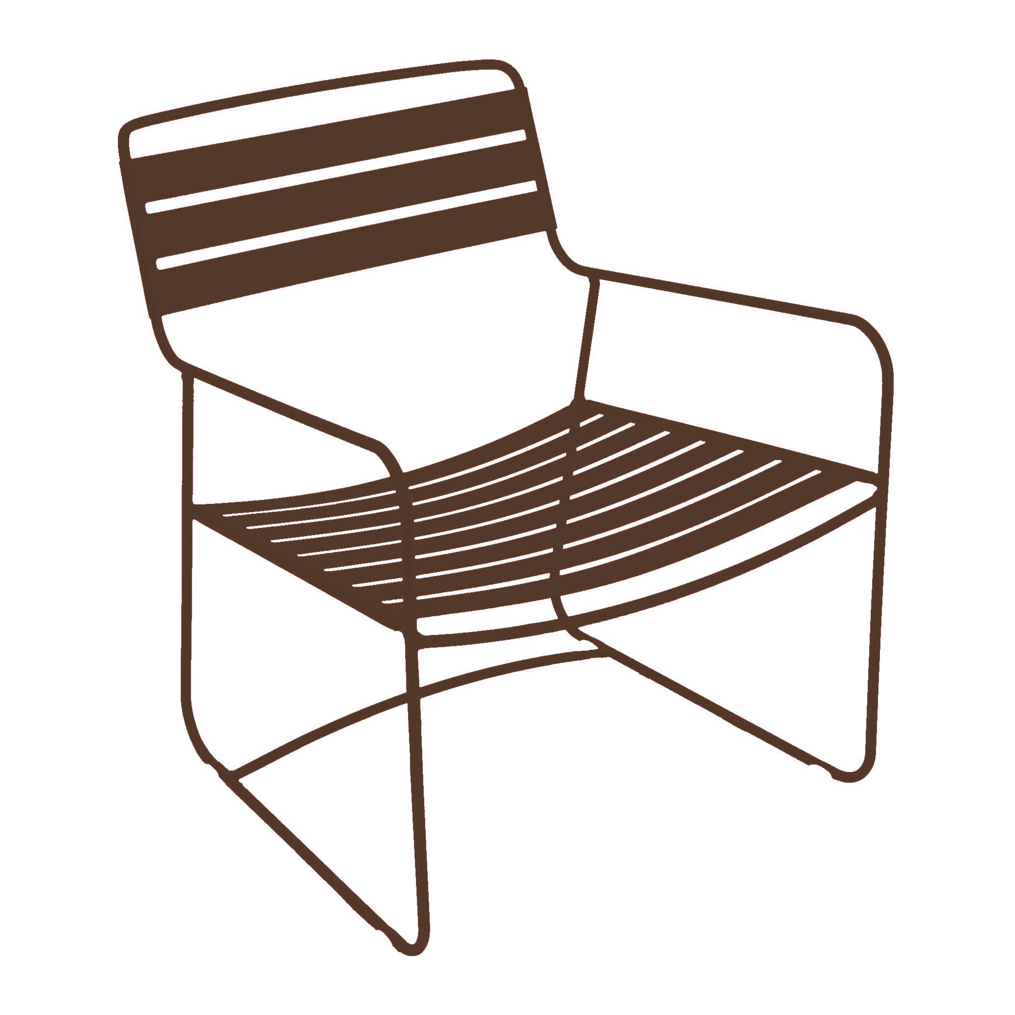 fauteuil bas surprising de fermob rouille. Black Bedroom Furniture Sets. Home Design Ideas
