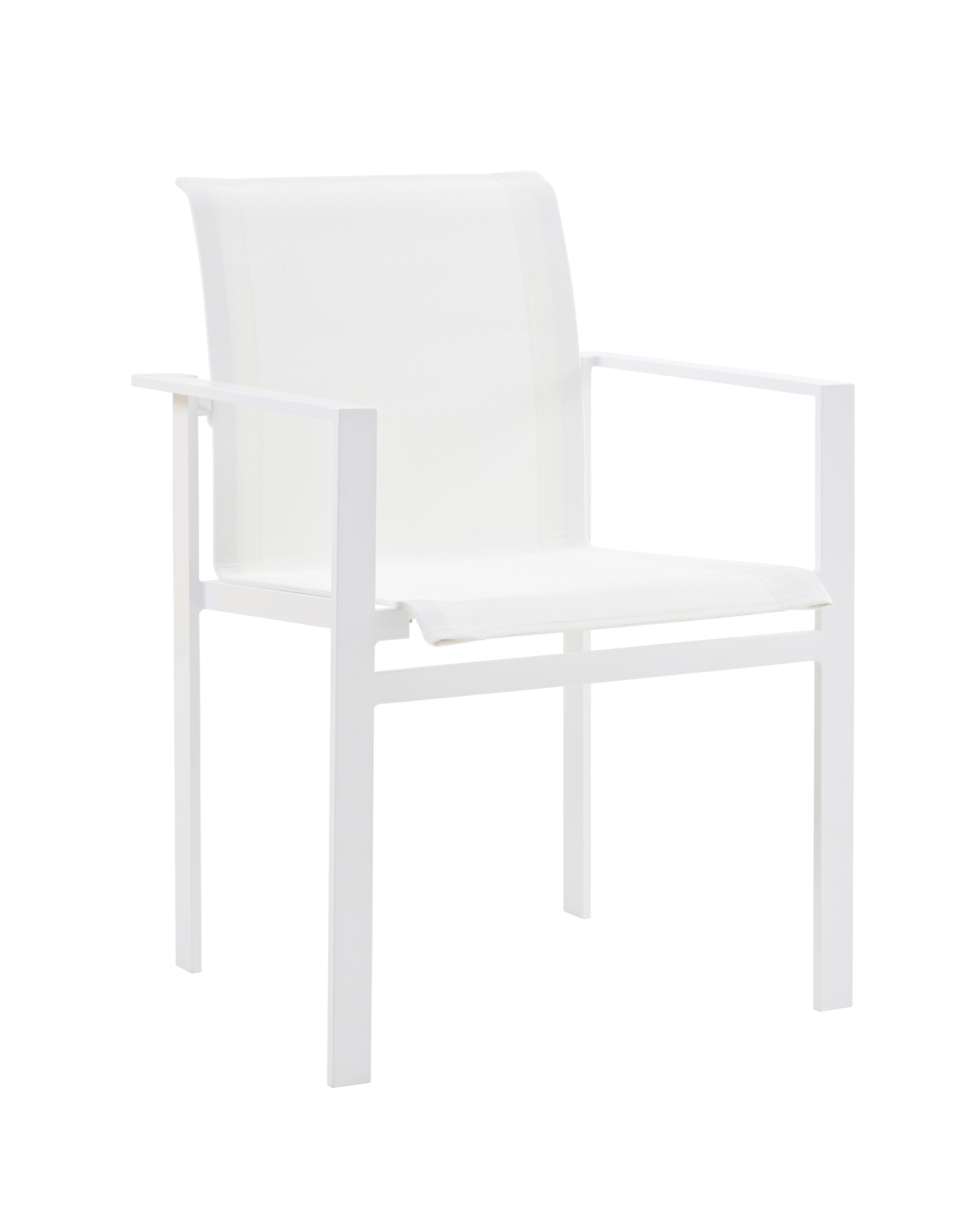 fauteuil de table komfy blanc sifas. Black Bedroom Furniture Sets. Home Design Ideas