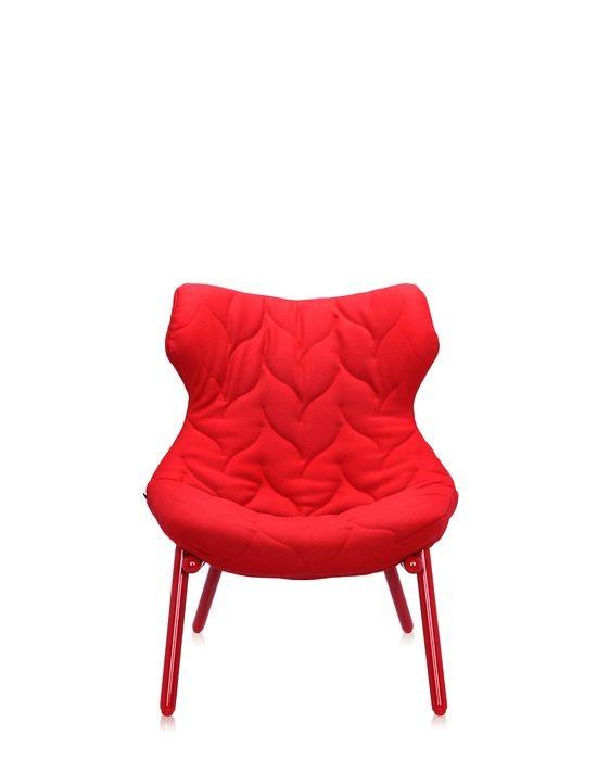 fauteuil foliage de kartell rouge structure rouge. Black Bedroom Furniture Sets. Home Design Ideas