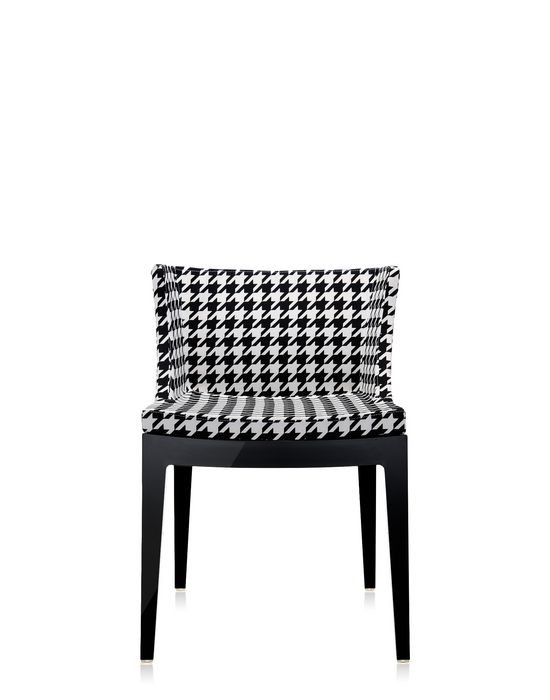 fauteuil mademoiselle de kartell pied de poule structure noire. Black Bedroom Furniture Sets. Home Design Ideas