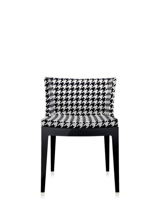 fauteuil mademoiselle de kartell pied de poule structure noire. Black Bedroom Furniture Sets. Home Design Ideas