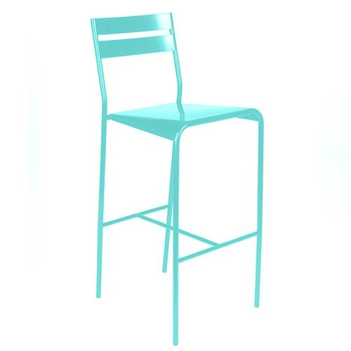 tabouret de bar facto de fermob bleu lagune. Black Bedroom Furniture Sets. Home Design Ideas