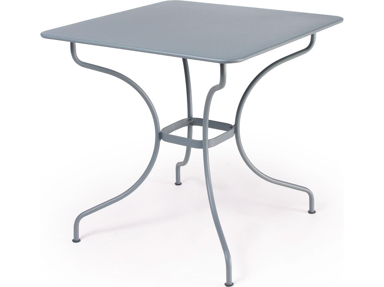 Table carr e op ra de fermob gris orage - Fermob opera table ...