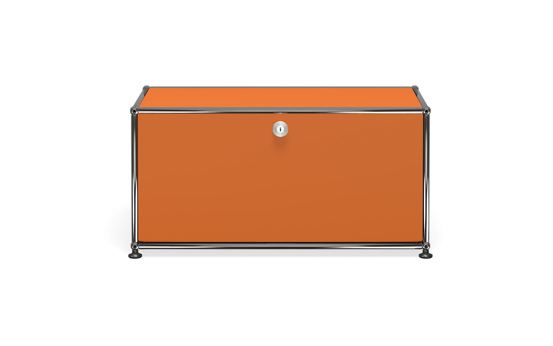Petit meuble de rangement usm haller m10 orange pur for Petit meuble rangement