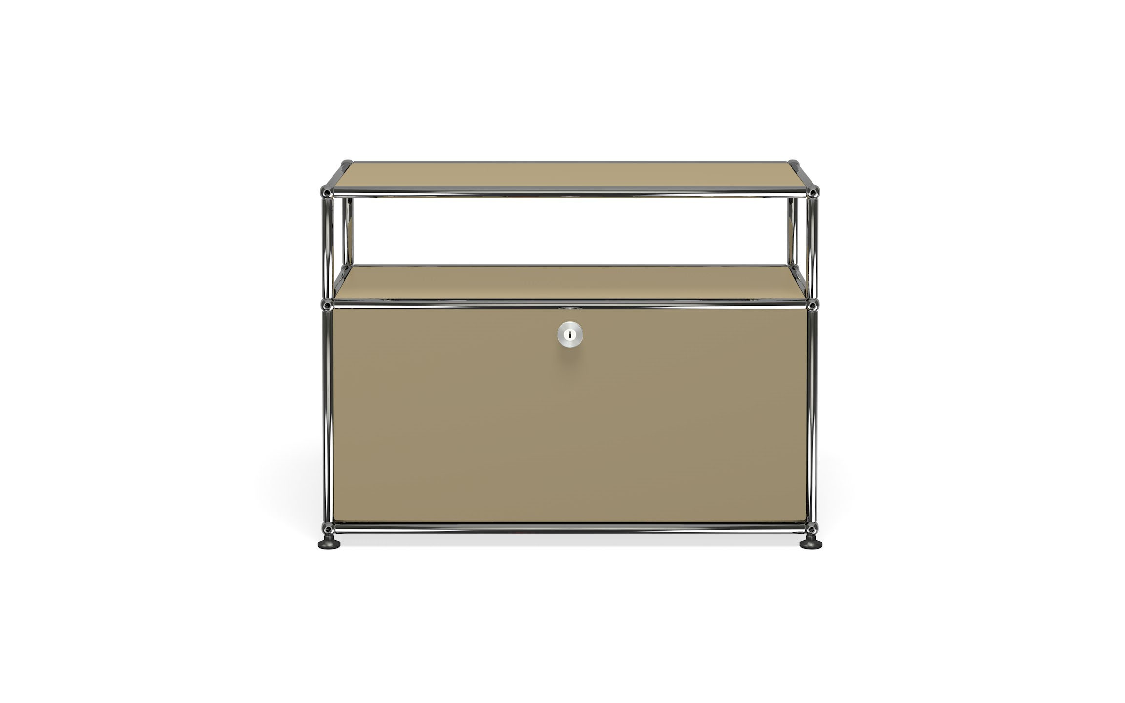 Petit meuble de rangement usm haller m6 beige usm for Petit meuble de rangement
