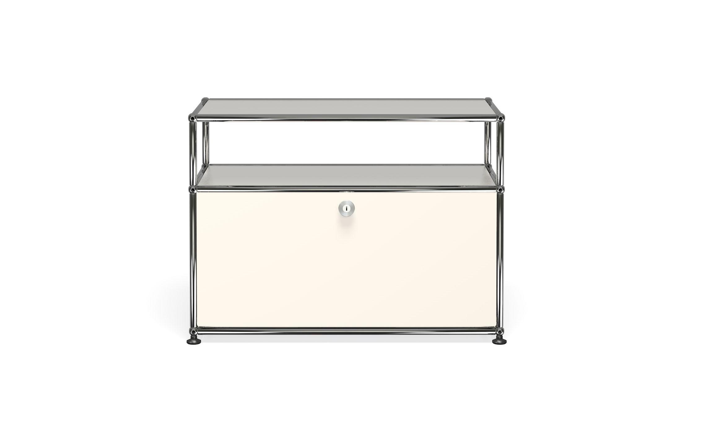 Petit meuble de rangement usm haller m6 blanc pur - Petit meuble de rangement blanc ...