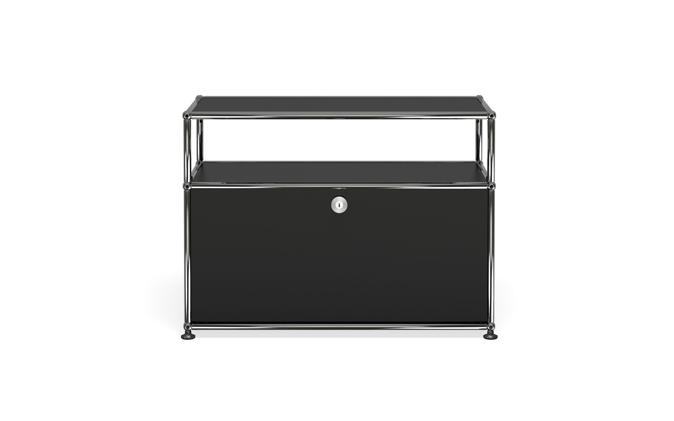 petit meuble de rangement usm haller m6 noir graphite. Black Bedroom Furniture Sets. Home Design Ideas