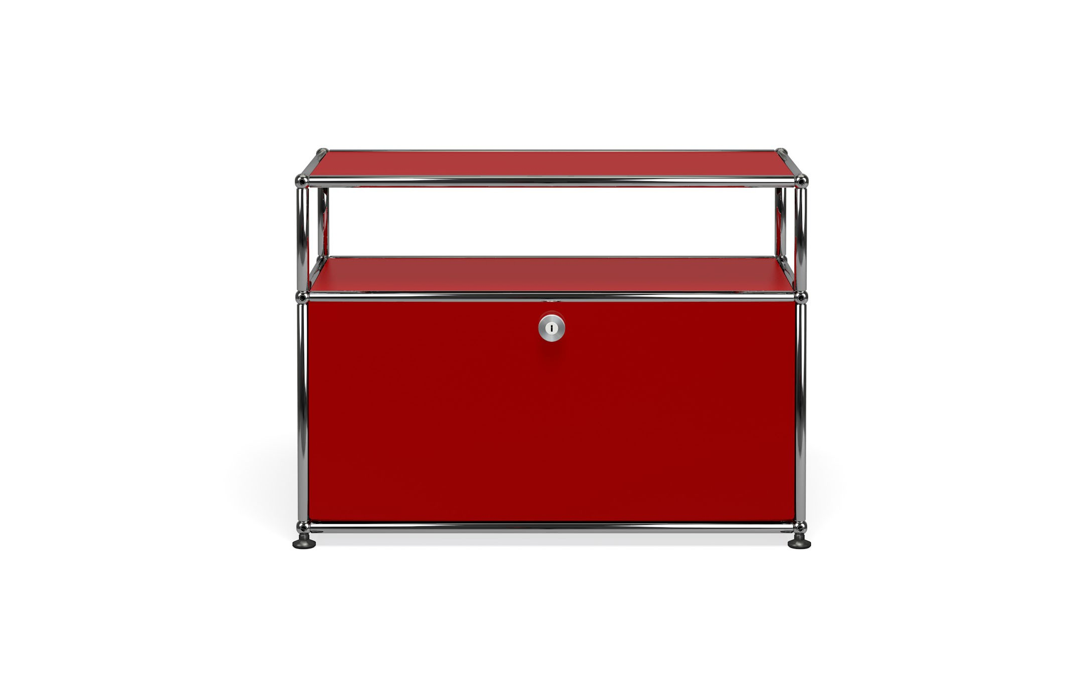 petit meuble de rangement usm haller m6 rouge rubis. Black Bedroom Furniture Sets. Home Design Ideas