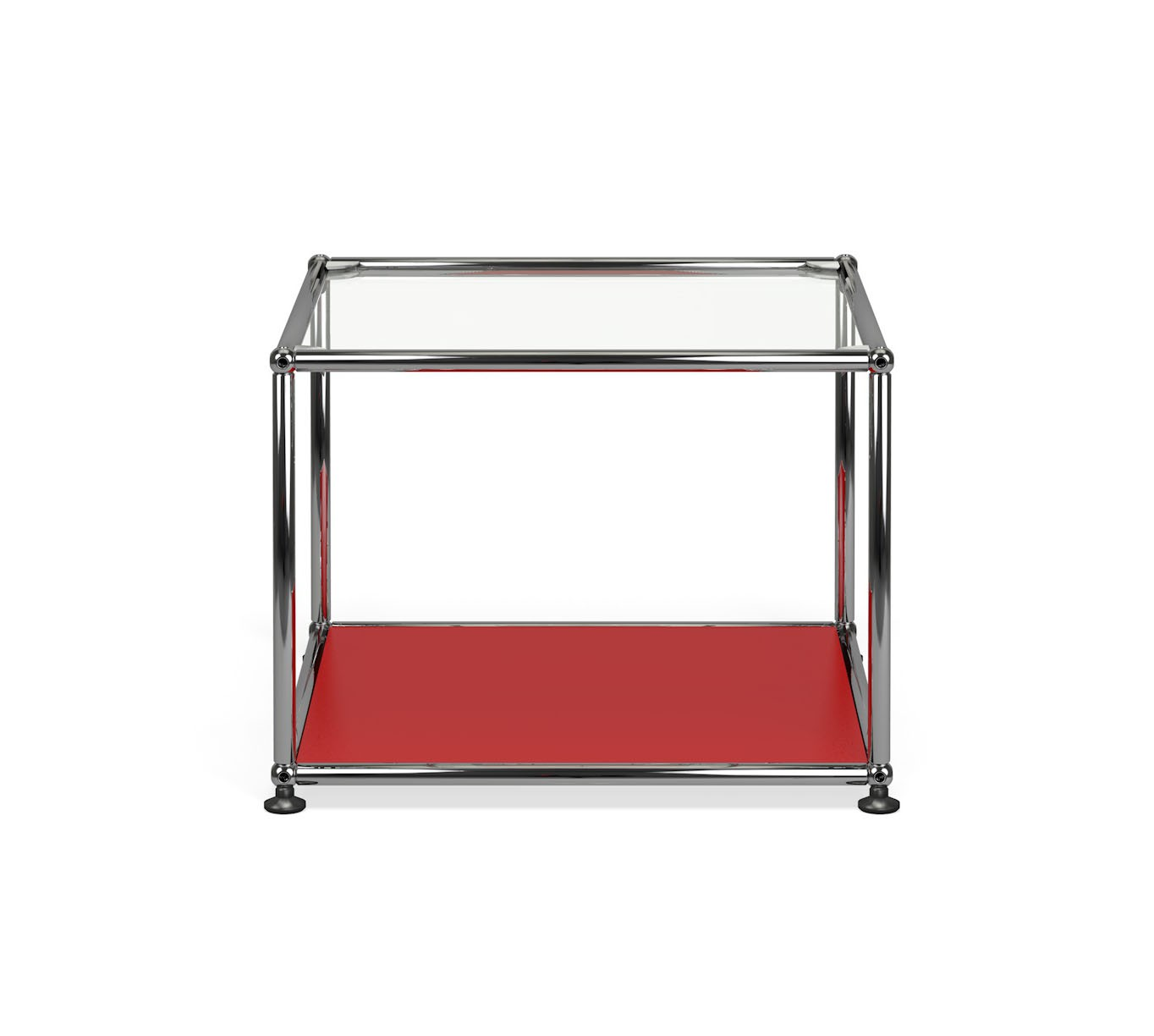 Petite table basse carr e usm haller m17 rouge rubis for Table basse rubis