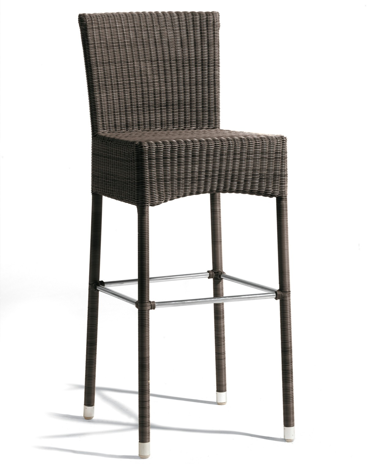 tabouret de bar atlanta de manutti marron. Black Bedroom Furniture Sets. Home Design Ideas