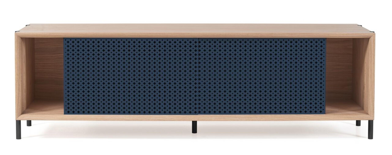 buffet bas gabin 162cm de hart sans bloc tiroir bleu gris. Black Bedroom Furniture Sets. Home Design Ideas