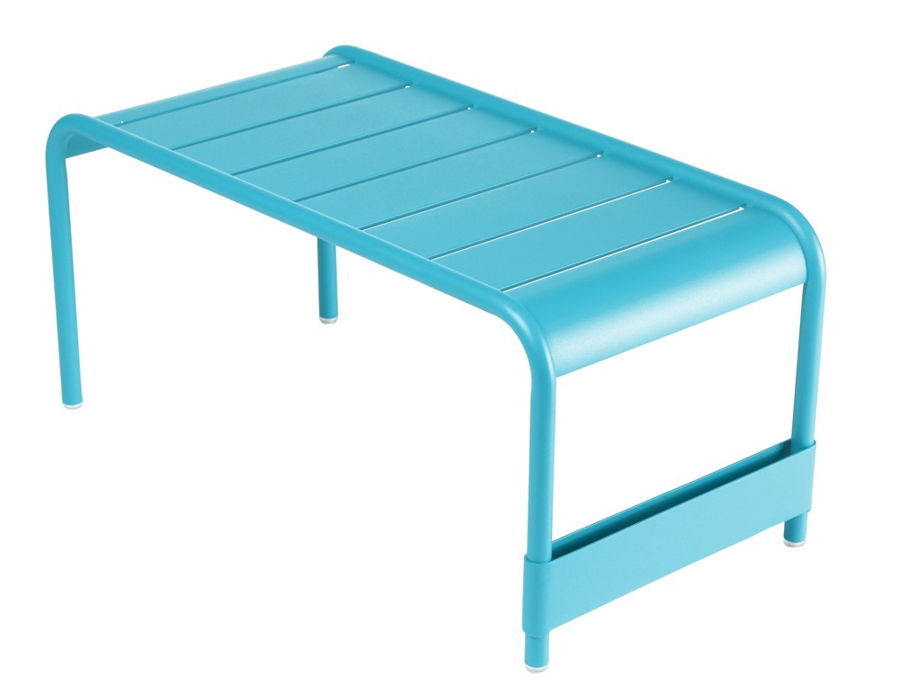 grande table basse luxembourg de fermob bleu turquoise. Black Bedroom Furniture Sets. Home Design Ideas