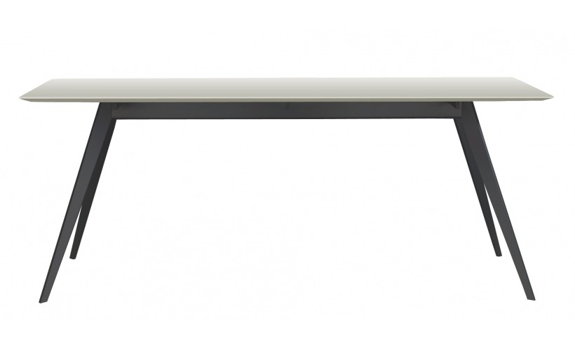 table aise rectangulaire de treku 190x90x75 gris clair. Black Bedroom Furniture Sets. Home Design Ideas