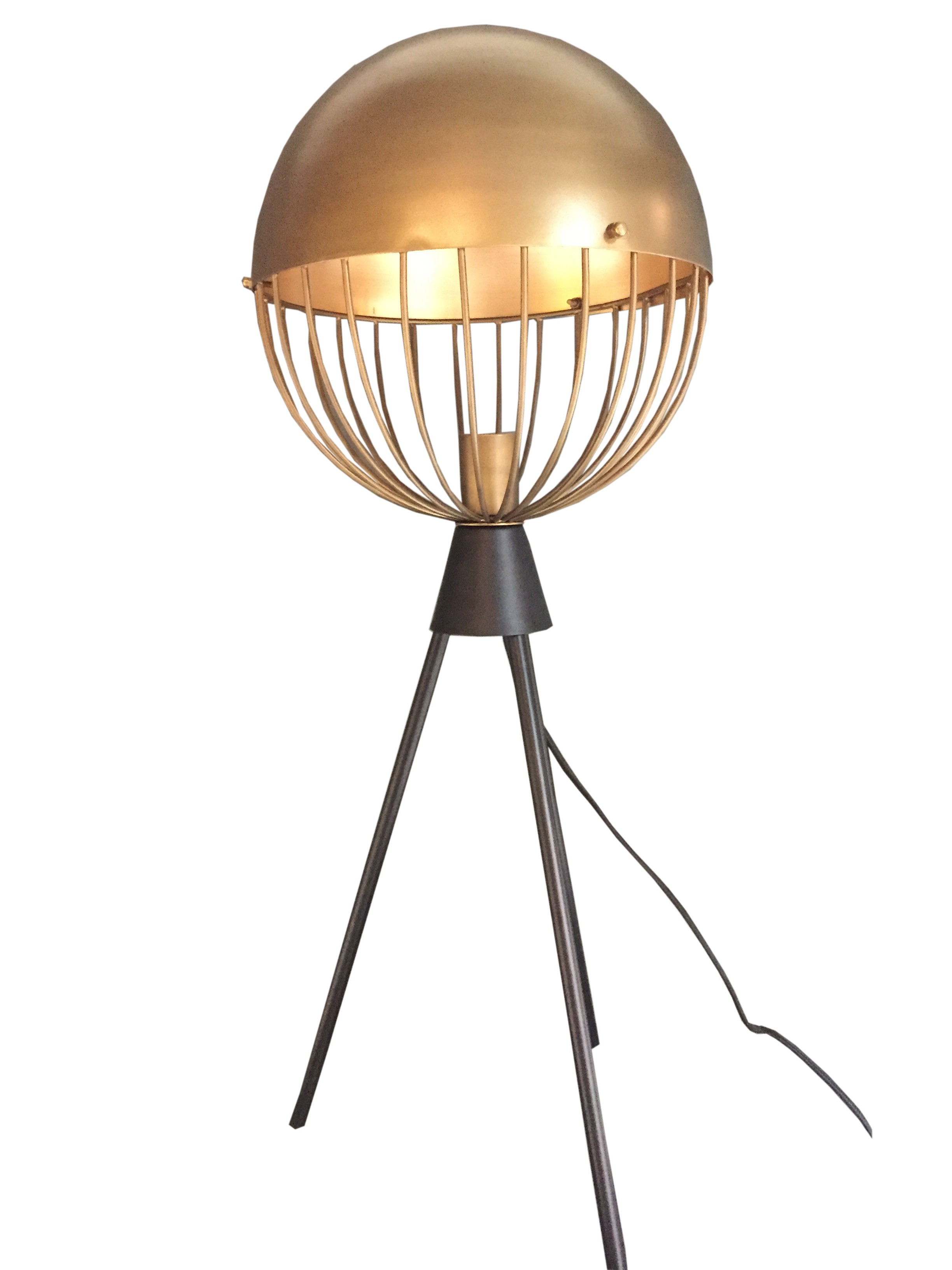 lampe poser sph re en cuivre 2 tailles. Black Bedroom Furniture Sets. Home Design Ideas