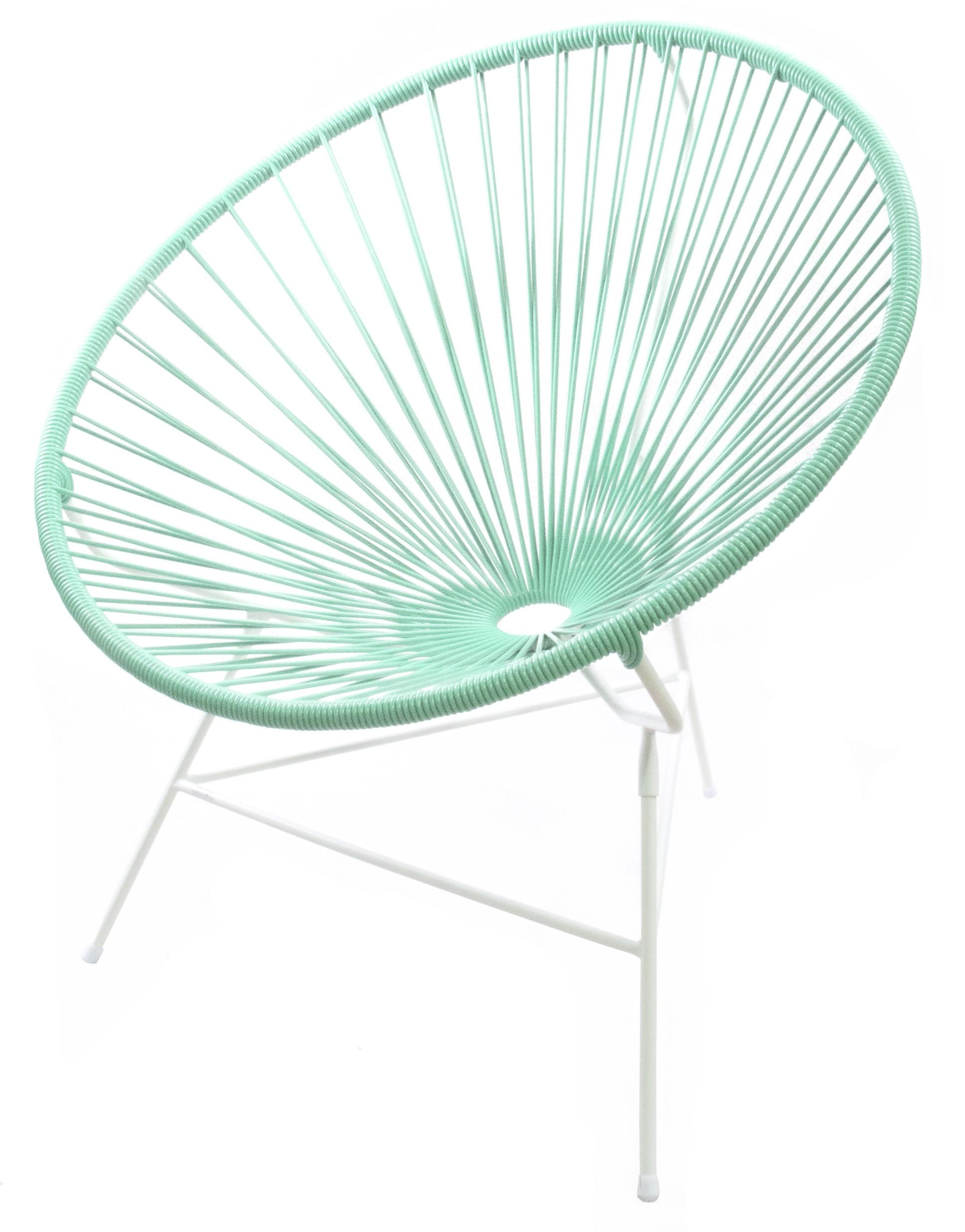 fauteuil huatulco de boqa avec structure blanche vert d 39 eau. Black Bedroom Furniture Sets. Home Design Ideas