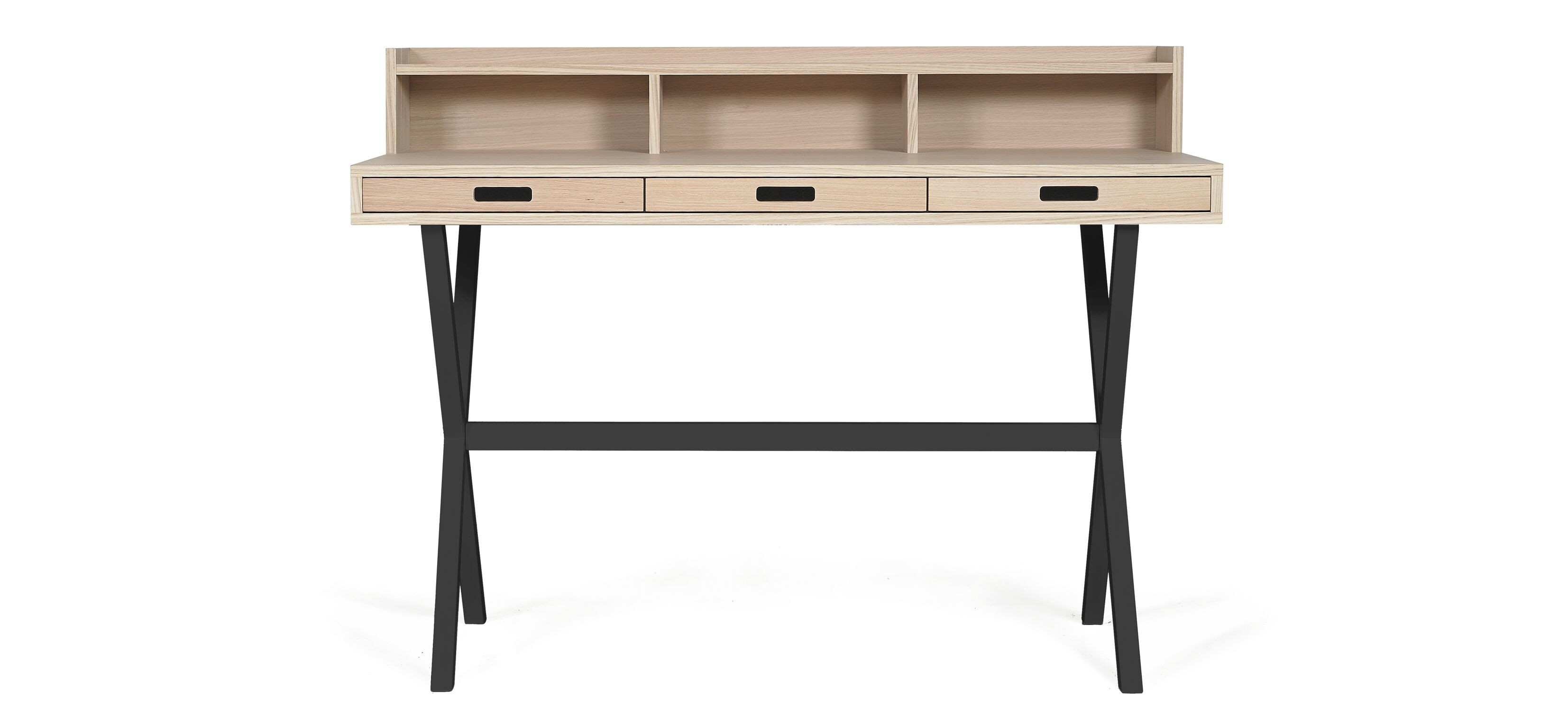 bureau en ch ne hyppolite de hart gris ardoise. Black Bedroom Furniture Sets. Home Design Ideas