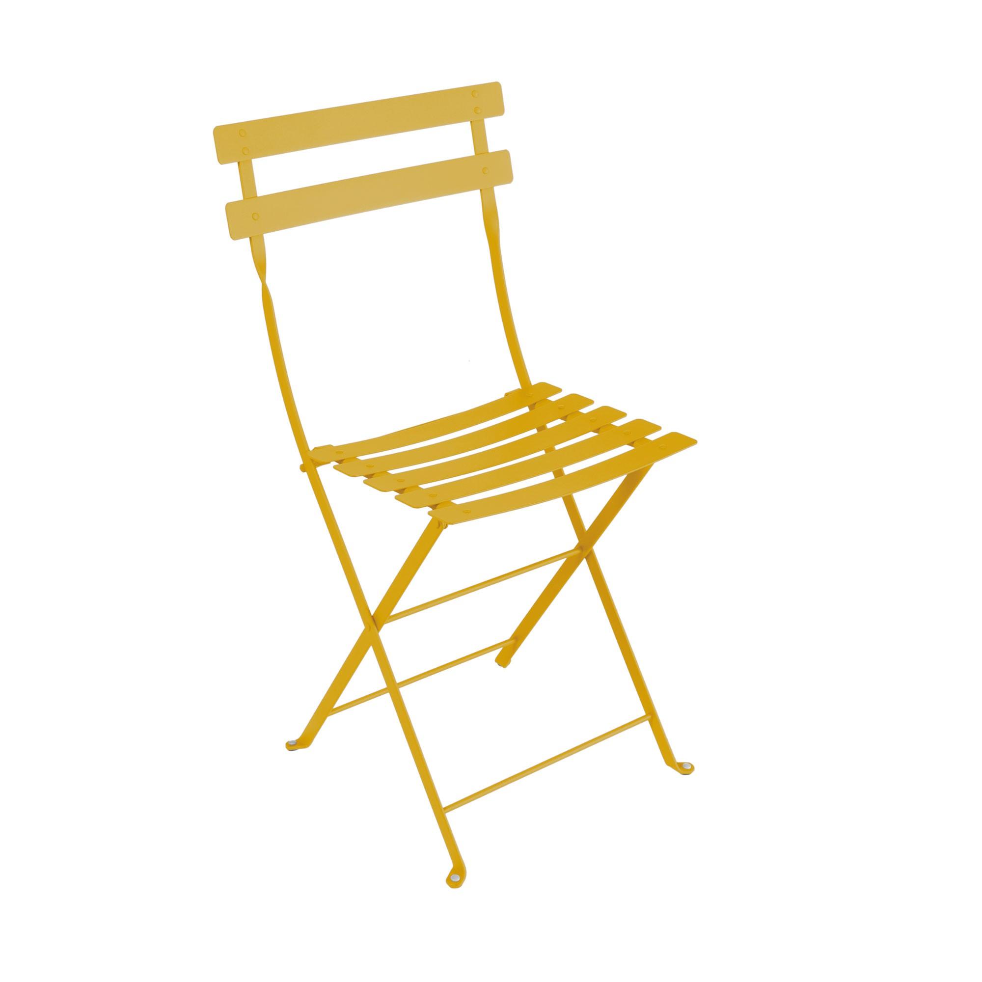 chaise bistro m tal de fermob miel. Black Bedroom Furniture Sets. Home Design Ideas