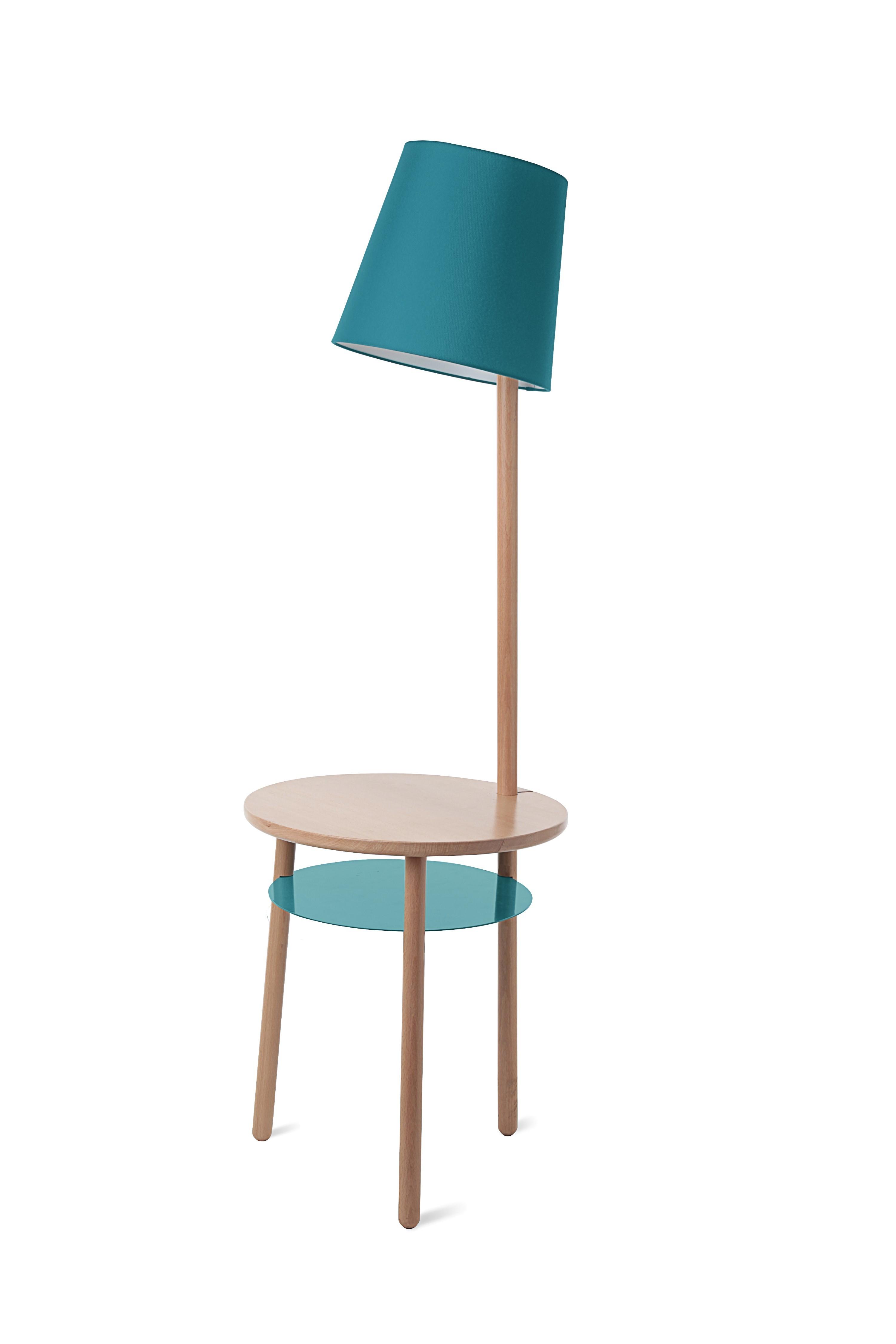 lampe gu ridon avec table naturelle josette de hart 3 coloris. Black Bedroom Furniture Sets. Home Design Ideas