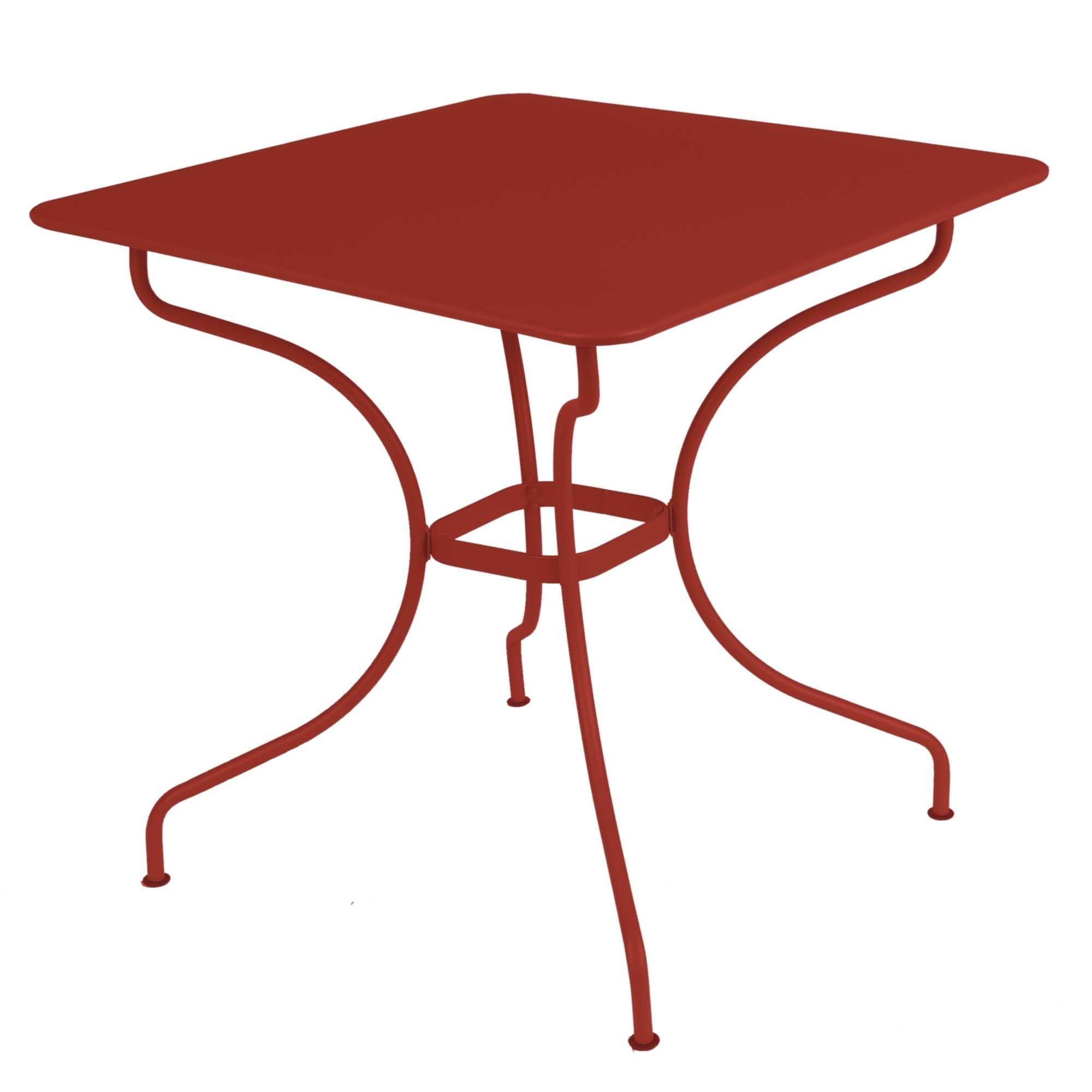 Table carr e op ra de fermob piment - Fermob opera table ...