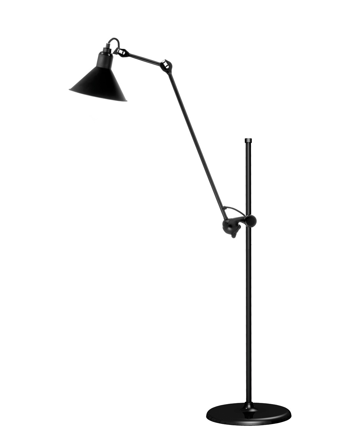 luminaires lampes gras lampadaire articul gras n 215 noir. Black Bedroom Furniture Sets. Home Design Ideas