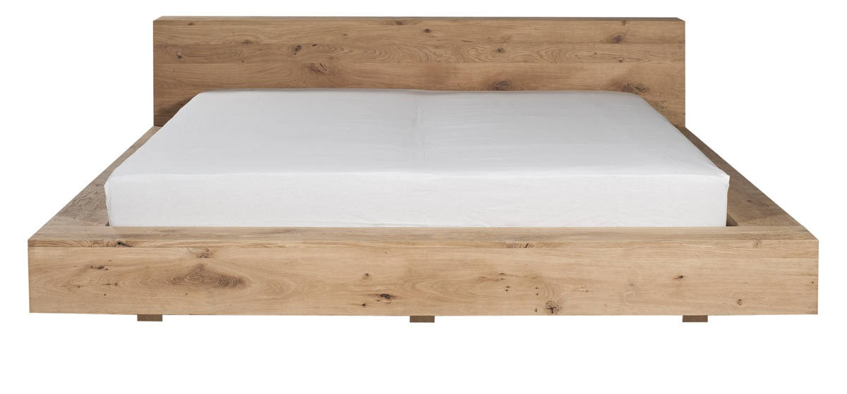 lit oak madra d 39 ethnicraft sans lattes matelas 180 200. Black Bedroom Furniture Sets. Home Design Ideas