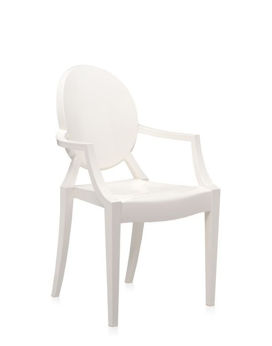 fauteuil louis ghost de kartell blanc brillant. Black Bedroom Furniture Sets. Home Design Ideas