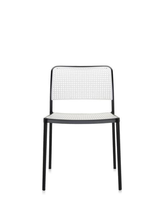 chaise audrey de kartell noir et blanc. Black Bedroom Furniture Sets. Home Design Ideas