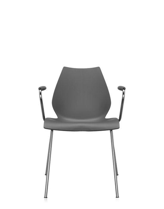 chaise avec accoudoirs maui de kartell anthracite. Black Bedroom Furniture Sets. Home Design Ideas