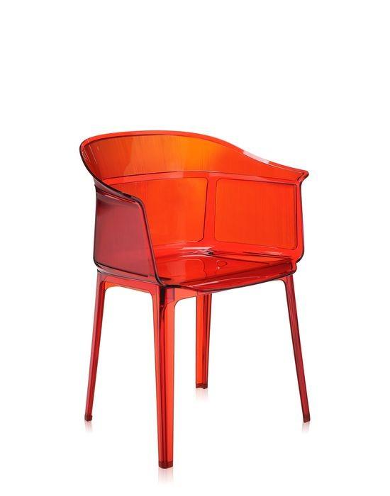 chaise papyrus de kartell rouge orang mod le d 39 exposition. Black Bedroom Furniture Sets. Home Design Ideas