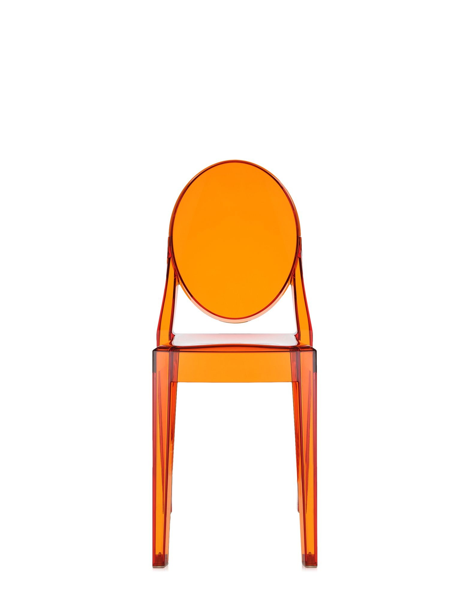Chaise VICTORIA GHOST De Kartell Orange Transparent
