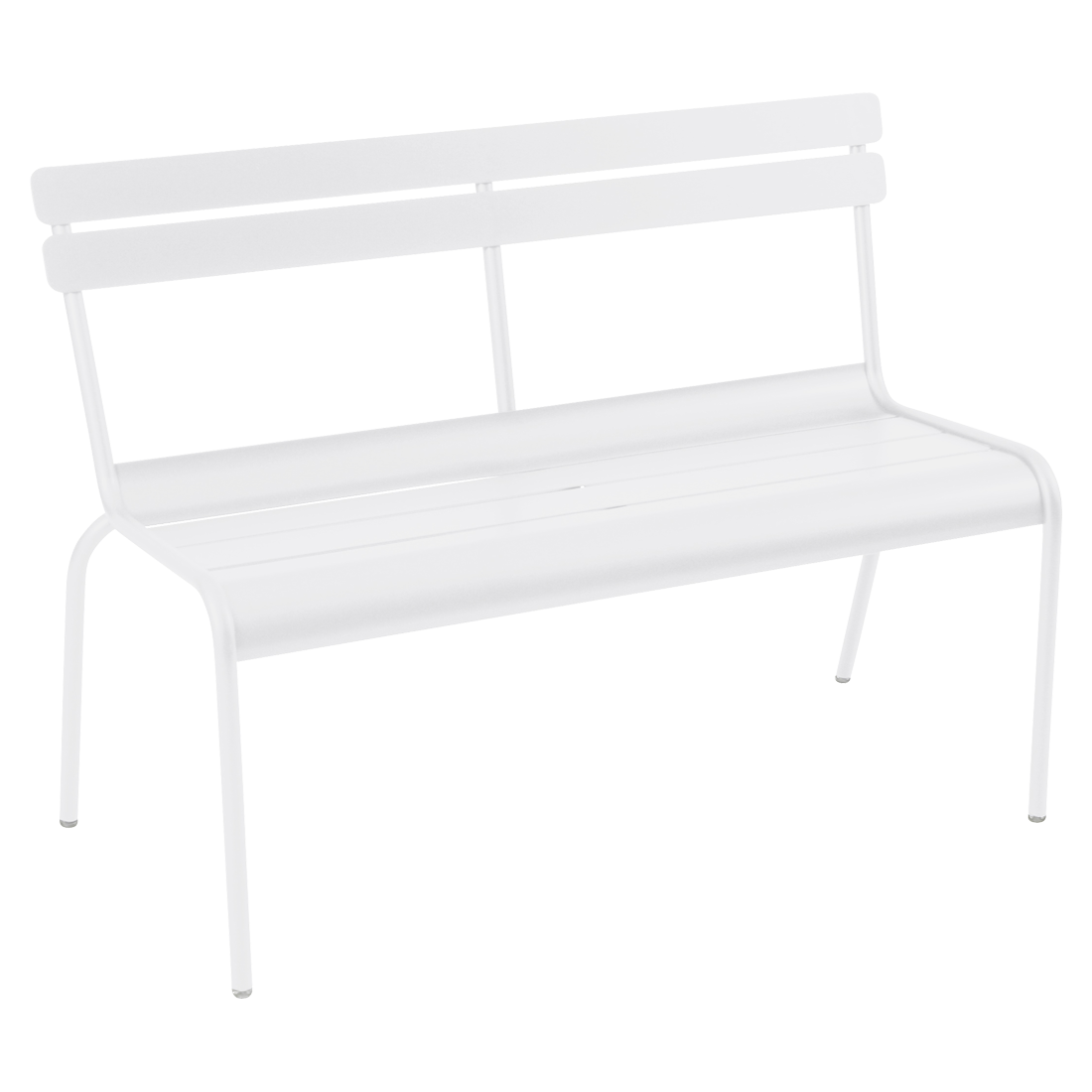 banc avec dossier luxembourg de fermob blanc coton. Black Bedroom Furniture Sets. Home Design Ideas