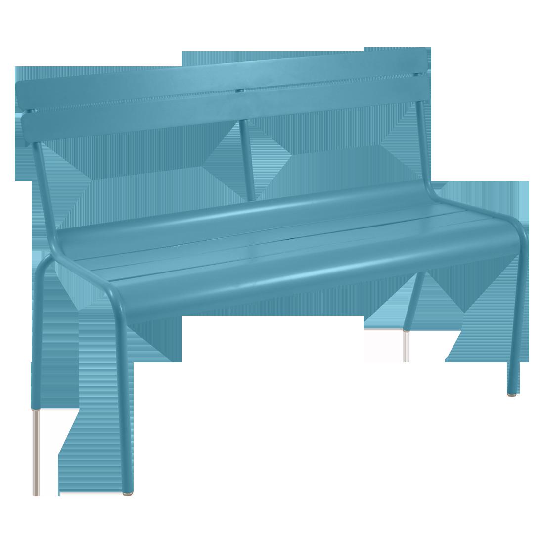 banc avec dossier luxembourg de fermob bleu turquoise. Black Bedroom Furniture Sets. Home Design Ideas