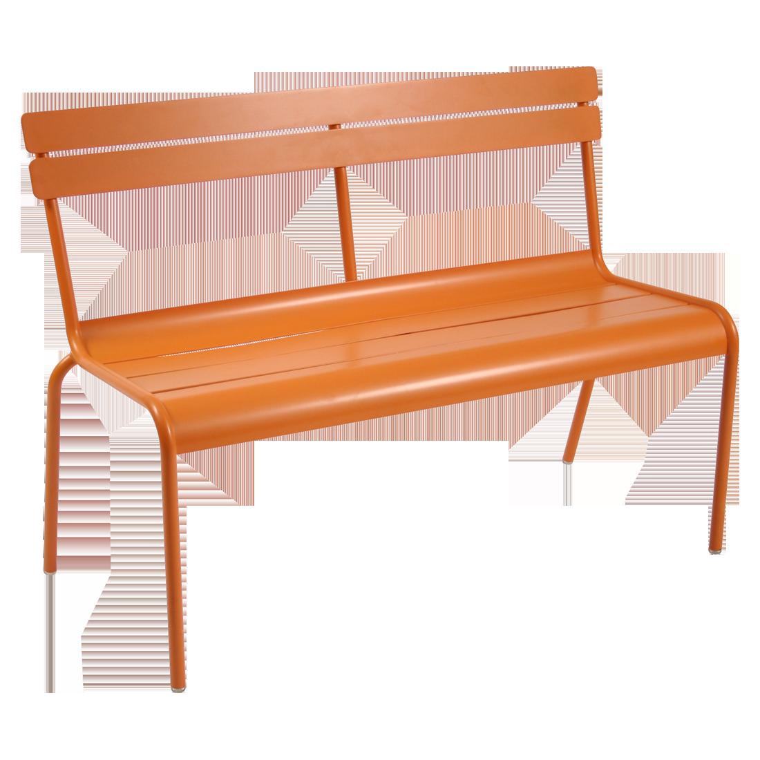 banc avec dossier luxembourg de fermob carotte. Black Bedroom Furniture Sets. Home Design Ideas