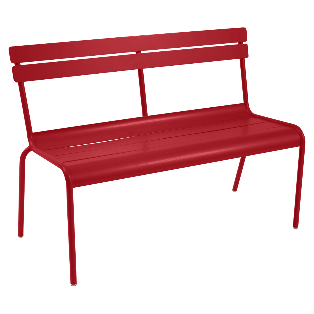 banc avec dossier luxembourg de fermob coquelicot. Black Bedroom Furniture Sets. Home Design Ideas