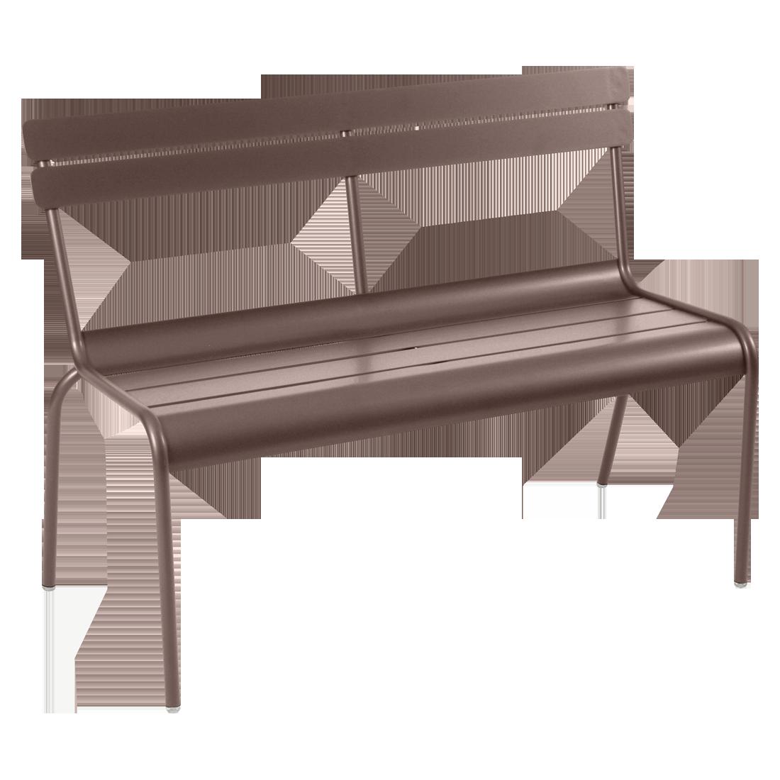 banc avec dossier luxembourg de fermob rouille. Black Bedroom Furniture Sets. Home Design Ideas