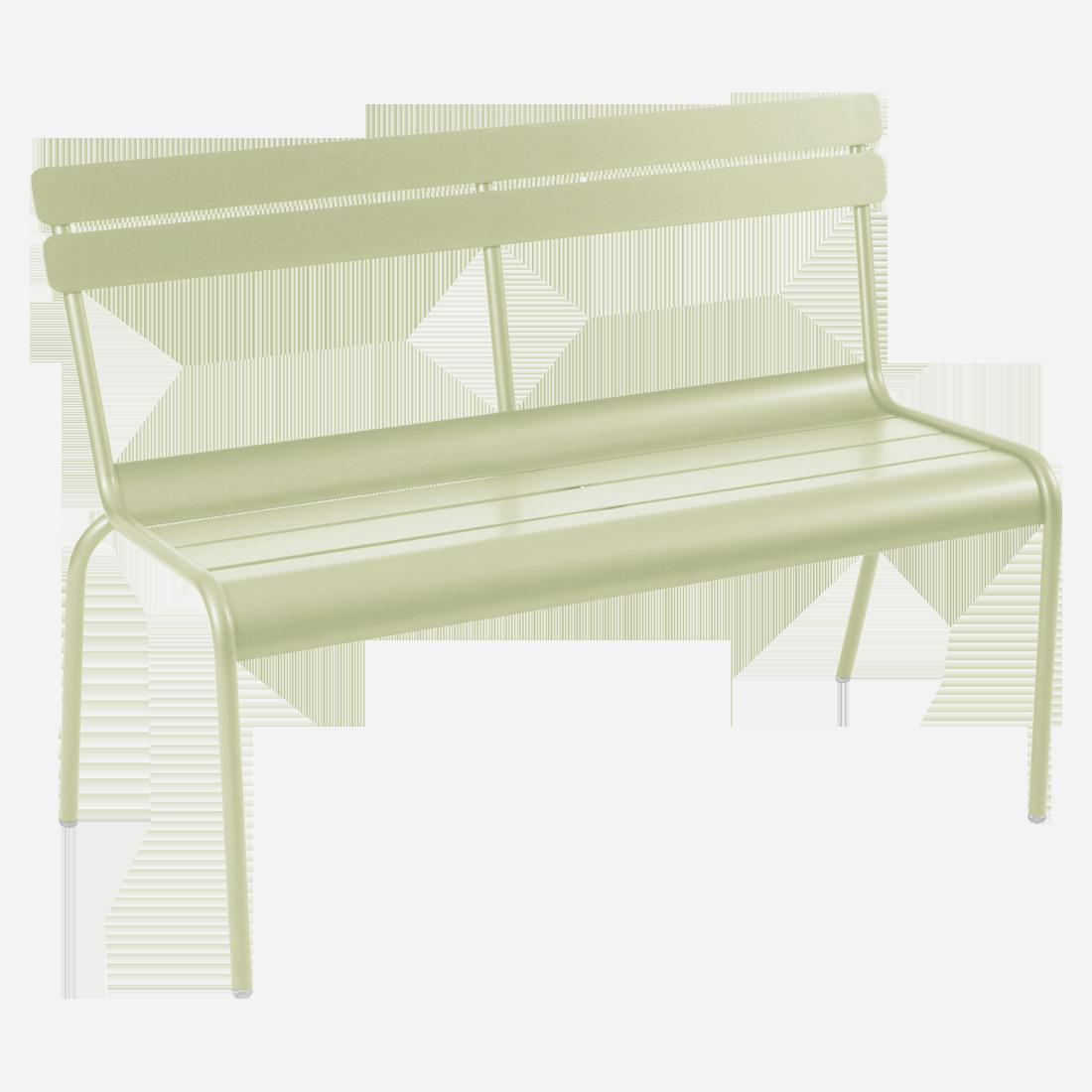 banc avec dossier luxembourg de fermob tilleul. Black Bedroom Furniture Sets. Home Design Ideas