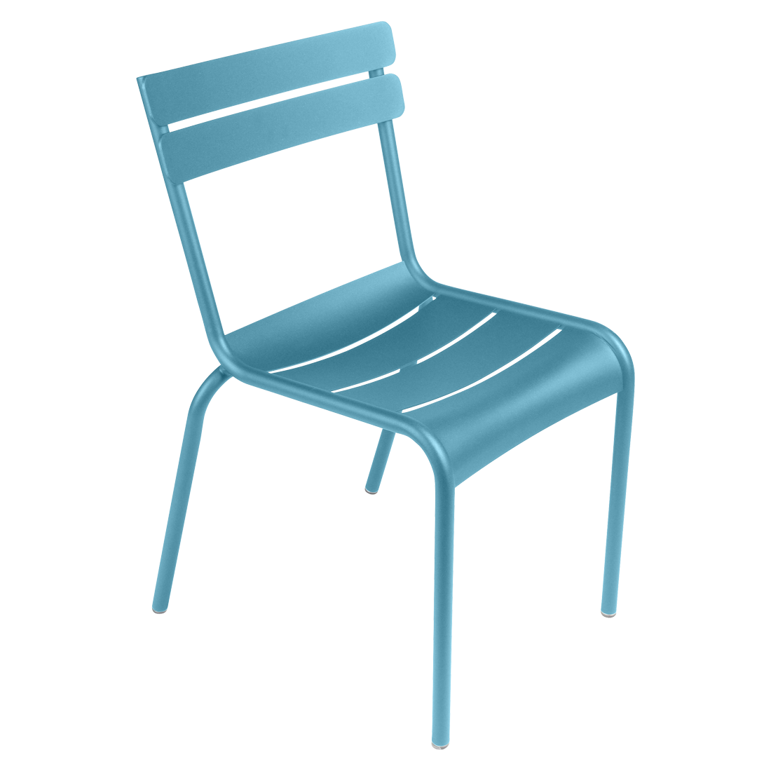 Chaise luxembourg de fermob bleu turquoise for Chaise longue bleu turquoise